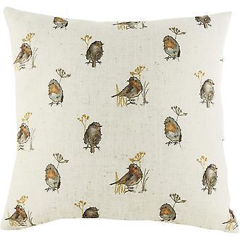 Evans Lichfield Oakwood Robin Repeat Print Cushion Cover
