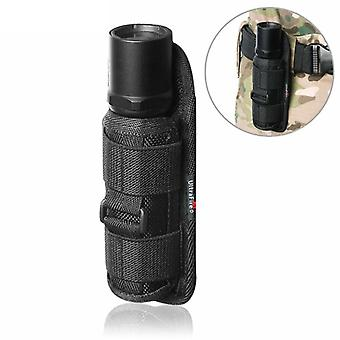 Outdoor Tactical Flashlight Pouch Holdter Rotatable Clip, Torch Cover For Belt