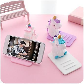 Universal unicorn desktop phone holder for smart phone iphone samsung huawei lg vivo oppo
