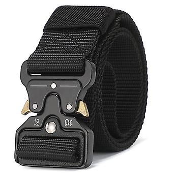 125-140 Long Big Size Belt Male Tactical Military Canvas Belt
