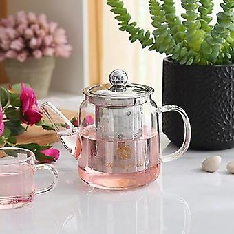 Glass Teapot With Stainless Steel Infuser, Strainer, Heat Resistant, Loose Leaf