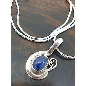 Kyanite Sterling Hopea kaulakoru - Teardrop Muoto, Sininen