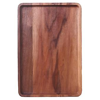 Solid Wood Black Walnut Wooden Serving Tray