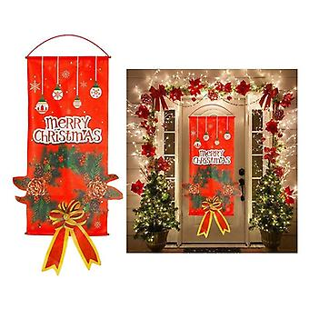 Merry Christmas Porch Door Banner Hanging Decoration For Home