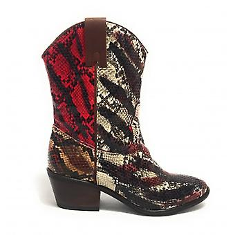 Women's Shoes Gio+ Texan Ankle Boot In Multicolor Python Print Ds19gi05