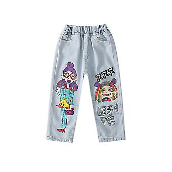 Girl Cartoon Anime Beauty Hipster Jeans 3-13 Years