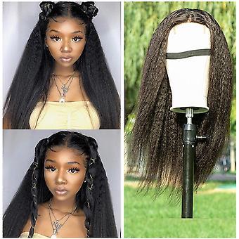 Beumax Brazilian Kinky Straight 4x4 Lace Closure Wigs 180% Densidade