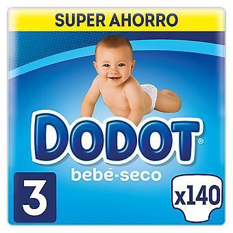 Dodot Bebé Seco Box Talla 3 140 uds