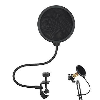 Dubbellaagse studio microfoon windscherm schild mesh zwanenhals ruisfilter