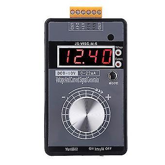 0-10V/0-20ma مولد إشارة رقمية محمولة مع بطارية قابلة لإعادة الشحن جيب الجهد الحالي جهاز محاكاة معايرة