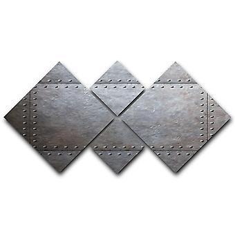 Lienzo de placas de armadura metálica