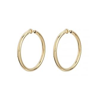 Traveller Clip Hoop Earrings 22ct Gold Plated ø 45mm - 155052 - 421