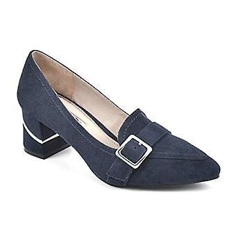 RIALTO Shoes Foremost Women's Pointed-Toe Block Heel Dress Loafer