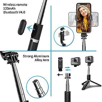 HanFei Selfie Stick Stativ, Erweiterbar 103 cm Selfie Stange mit Bluetooth Fernbedienung fr Gopro