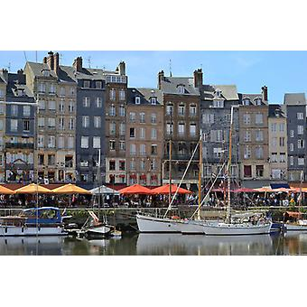 The Vieux Bassin, Old Harbour, St. Catherines Quay, Honfleur, Calvados, Basse. Framed Photo. The.