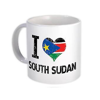 ספל מתנה: אני אוהב את לב דרום סודאן