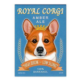 "Magnet, Kjøleskap Magnet, Royal Corgi Amber Ale, 2.5"" X 3.5"""
