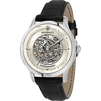 Maserati R8821133006 Men's Ricordo Automatic Black Strap Wristwatch