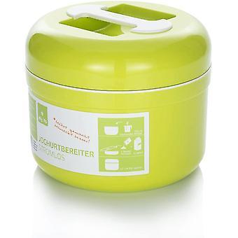 HanFei - Joghurtbereiter ohne Strom | Farbe Limette | Inkl. 2 Beutel Bio-Fermente