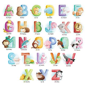 English Letters Wall Sticker Home Decal (size:97cm X 56cm)
