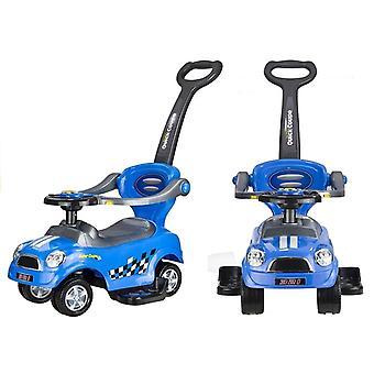 Trolley blau mit Schieber und Fallbügel