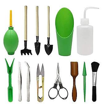 14 st/set trädgårdsredskap set, sprayflaska, plantlyftare, vattningsflaska, krukväxt beskärning