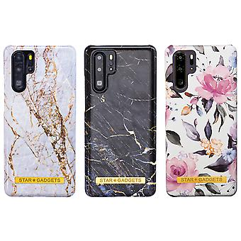 Huawei P30 Pro - Shell / Shelter / Flowers / Marble