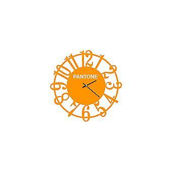 PANTONE Orologio Lens Colore Arancione, Bianco, in Metallo L40xP0,15xA40 cm