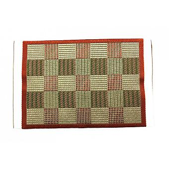 Lalki dom czerwony i beżowy sprawdź dywan mat miniaturowy home decor akcesoria 1:12