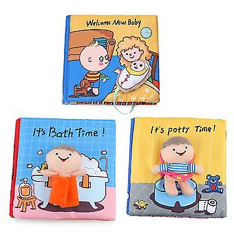 3pcs Early Educational Fabric Book For Toddlers Washable Soft Cloth Book