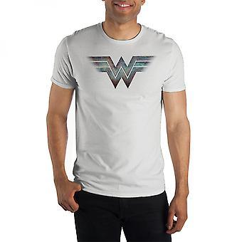 Camisa de logotipo da Mulher Maravilha Ombre