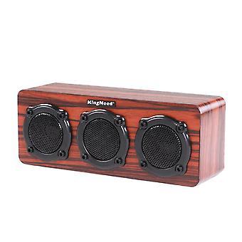 Kingneed S301 2,5W bezdrátový dřevěný bluetooth reproduktor Mini přenosný stereo reproduktor