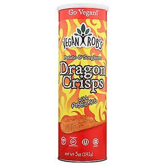 Veganrobs Crisps Dragon Spicy, Doos van 12 X 5 Oz