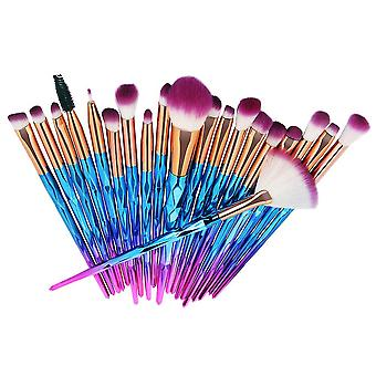 Blue and purple 25x15x2.5cm cosmetic brush 20 pieces colorful one set homi2595
