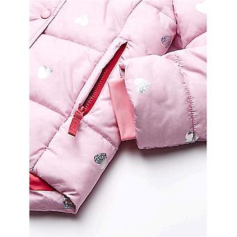 Essentials Girls' Heavy-Weight Hooded Puffer Jackets