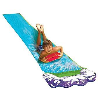 双冲浪水滑梯 Pvc 充气草坪水滑梯池