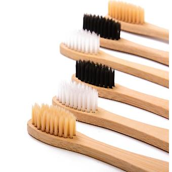 6 Packkids Bamboo Toothbrush ,soft Bristles Eco-friendly Wooden