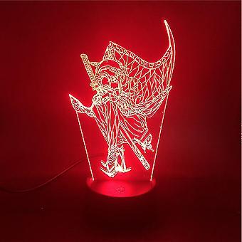 Demon Slayer 3d Lille Nat Lampe Kochou Shinobu Farverige Led Night Light