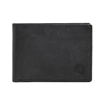 Element Avenue Leather Wallet in Black