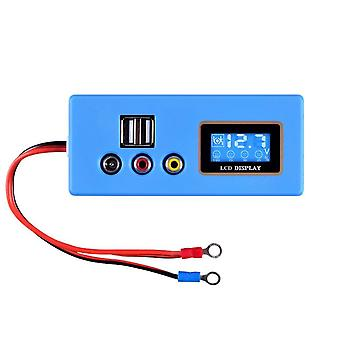 LCD Digitaalinen 12V Akkutestaaja Ajoneuvo Auto Happo Lyijy Varastointi Akku Jännite KapasiteettiMittari 5V USB