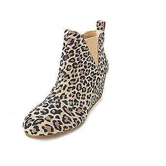 TOMS Women's Desert Tan Leopard Suede Kelsy Bootie 10014153 Fashion Boot