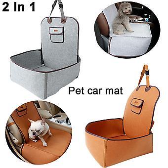 2 em 1 carro dianteiro banco do carro de estimação cobrir cesta de cachorro impermeável Anti-Silp Pet Car Carrier