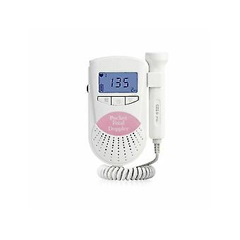 Home Pregnancy fetal heart rate monitor, Doppler non-radiation baby heartbeat monitor(Pink)