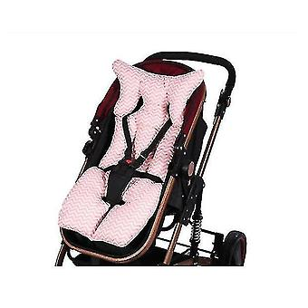 Baby Unisex Baby Car Seat Insert And Strap Covers, Lamb, One Size(PINK)