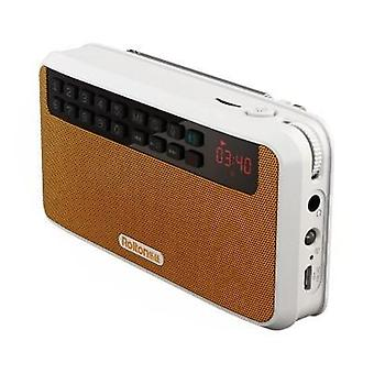 Stereo Bluetooth högtalare FM Radio Mp3 Spela ljudinspelning hand gratis för telefon och ficklampa