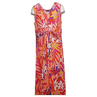 IMAN Global Chic Petite Dress Flawless Knit Maxi Pink 751382