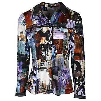 Tinta Style Multi-coloured Long Sleeve Fitted Shirt