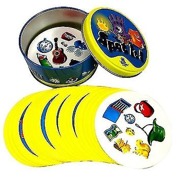 Card games 8+ dobble spot it cards game with animals  alphabets and numbers m