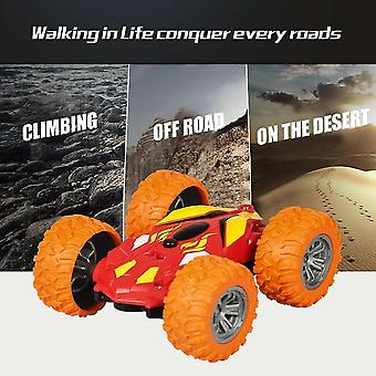 Remote control cars trucks double sided flip remote control car robot rc car