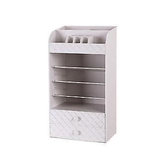 White Beauty Cosmetic Organizer Szuflady do makijażu Taca Wyświetlacz Box Case Storage Box